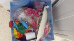 What's left of our balloon/bubble gum game, eww!!