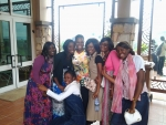 Sis. Erika & young sisters from Congo