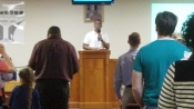 Bro. Joseph Underwood Jr. leads us in worship