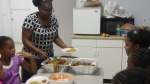 Sis. Tina dishing up our Dominican lunch